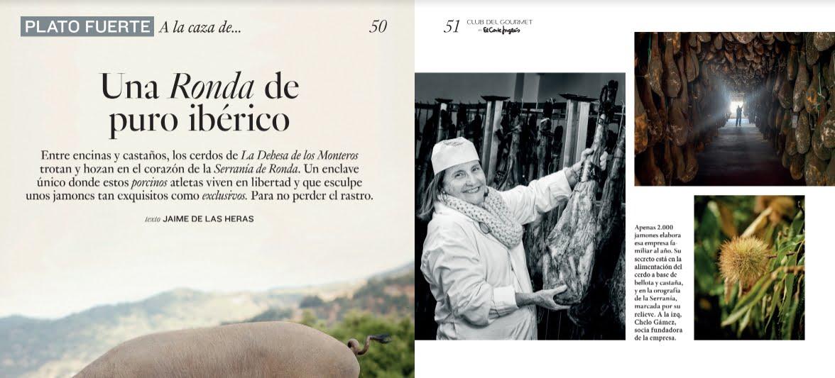 revista gourmet el corte ingles jamon iberico